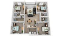 4x4 apartment bedroom thumbnail